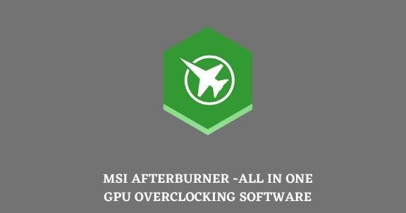 MSI Afterburner main